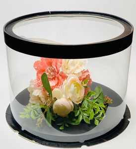 "Large See through clear round Cake box- 11.75""Diameter x 10""Height"