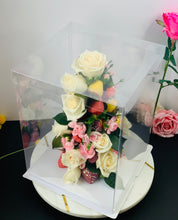 "Load image into Gallery viewer, Extra Tall Clear Square Cake Box-13.75""Height x 10""L x 10""W"