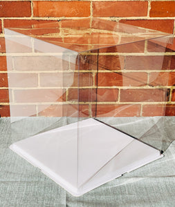 "Extra large and tall clear square Cake Box-16""Height x 14""L x 14""W, Big see through white cake box/big gift container"