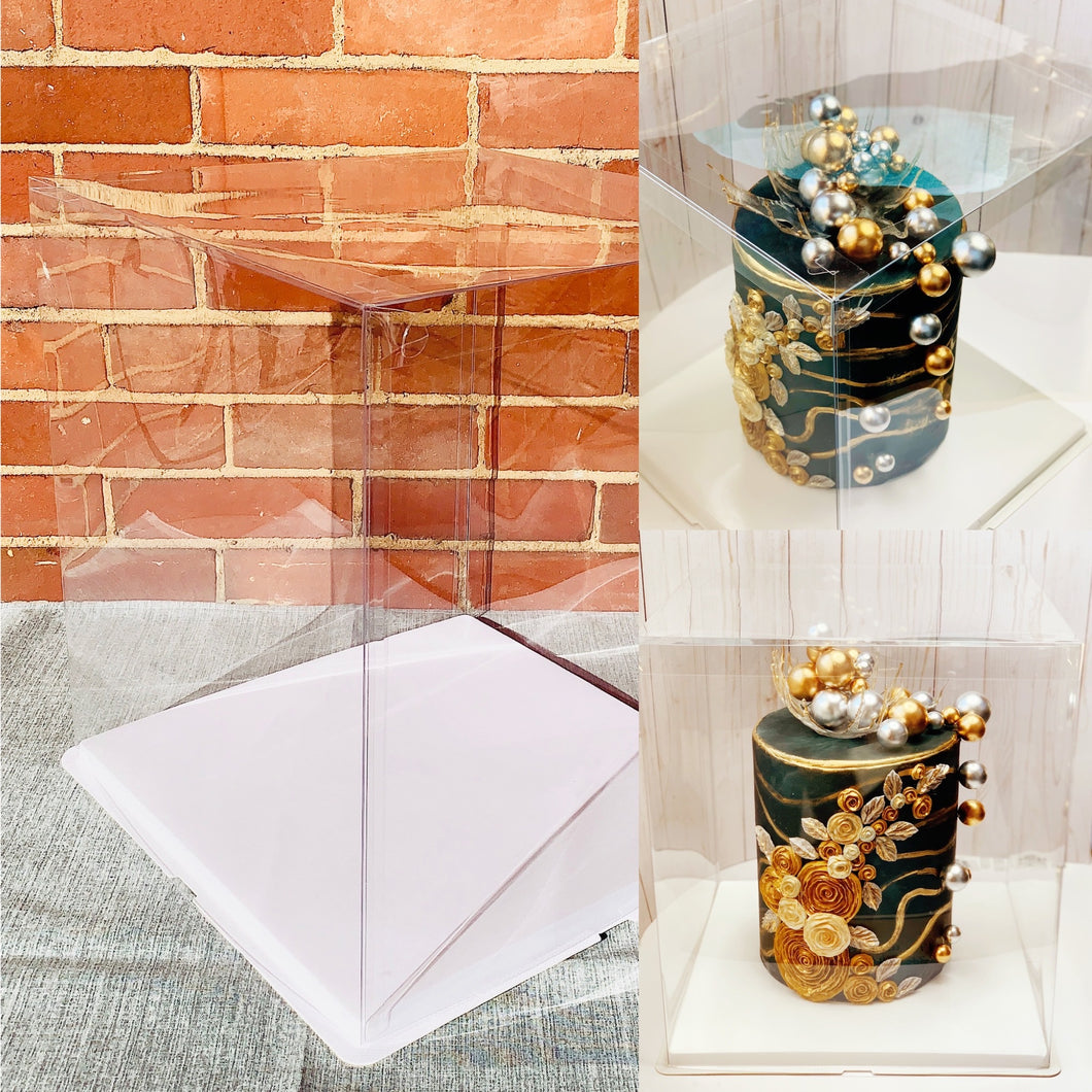 Extra large and tall clear square Cake Box-16