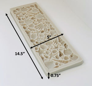The Many kind Real size Sea Shells Ocean fish Sea Horse Starfish Silicone mold for Ocean Sea Themed Cake decoration Clay Resin Soap
