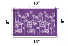 Load image into Gallery viewer, Lotus Water Lily Flower Reusable Fabric Mesh Stencil