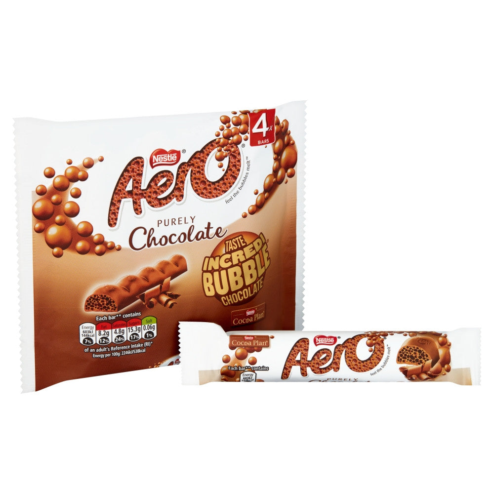 (IN STOCK) Aero Bubbly Milk Chocolate Bars 4 Pack (108G)