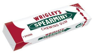 (IN STOCK) Wrigley's Spearmint 7 Sticks Chewing Gum (5 Pack)