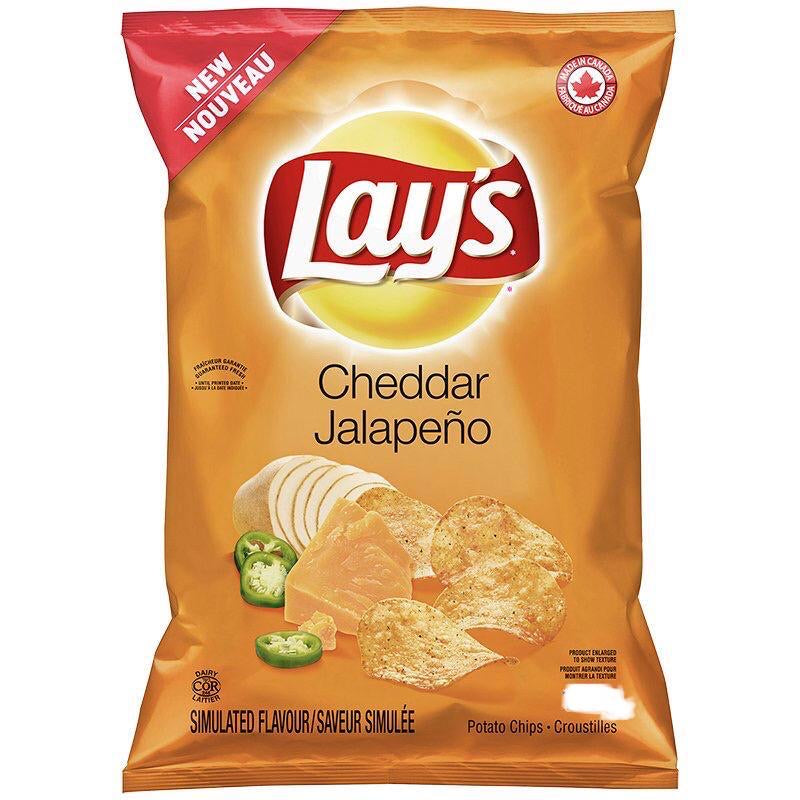 (OUT OF STOCK) Lays Cheddar Jalapeño Potato Chips (8 pack-40g)