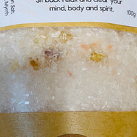 Frankincense & Myrrh Natural Bath Salts - Sit Back Relax and Clear your Mind