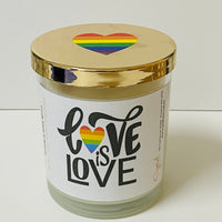 Love is Love - Natural Soy Wax Candle - Pride Candle