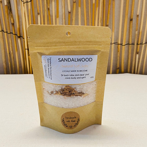 Sandalwood Natural Bath Salts - Sit Back Relax and Clear your Mind