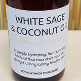 White Sage & Coconut Oil - All Natural Body Oil