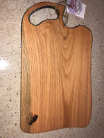 Charcuterie Serving Board Cheese Board Oak with Blue Copper White Epoxy Resin Handle