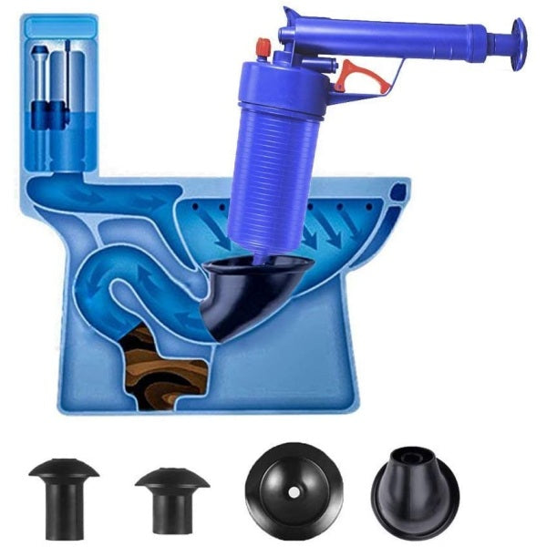AirBlow™ Gun: Easy Unclogs Sinks and Toilets with a Trigger!