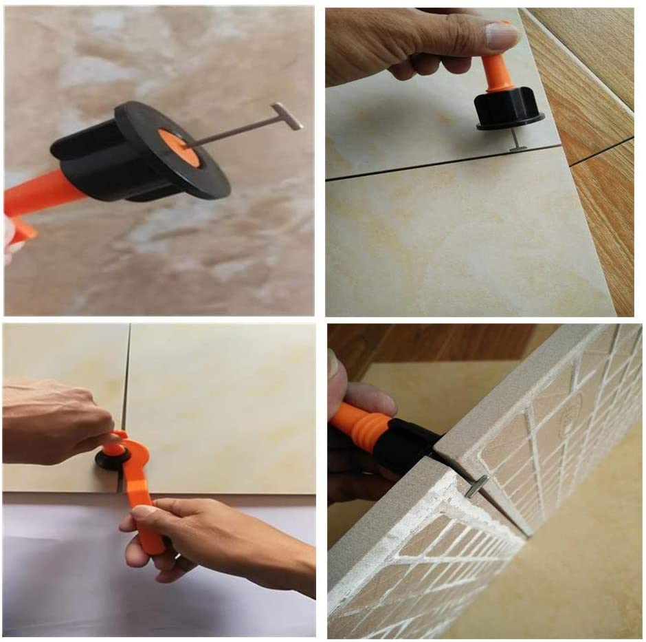 Reusable Anti-Lippage Tile Leveling System (50 pcs per pack)
