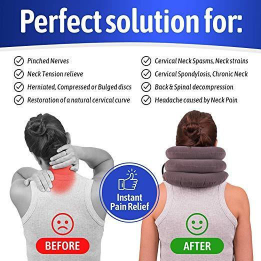 Quantum Inflatable Neck Traction Pillow