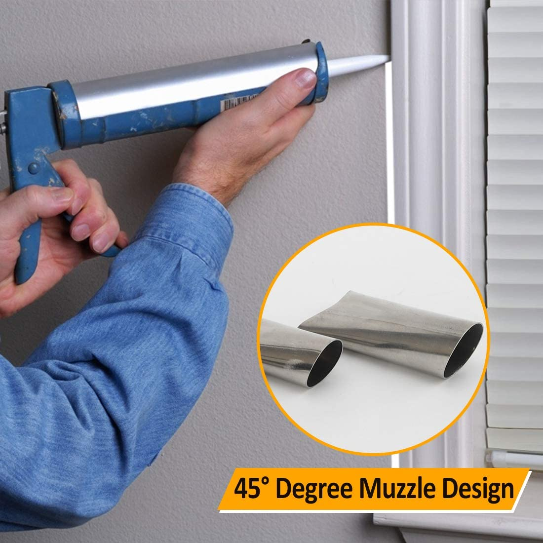 Reusable Stainless Steel Caulking Nozzle