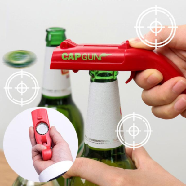 Firing Cap Gun Bottle Opener
