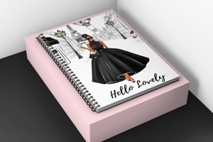 Lady in Paris Spiral lined notebook