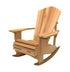"Red Cedar 1 Inch Muskoka Chair Rocker with 7.5"" Arm"