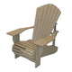 "Recycled Plastic 3/4 Inch Muskoka Chair with 8"" Arm"