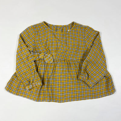 Zara yellow checked blouse 18-24M/92 1