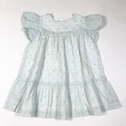 Laranjinha pale mint short-sleeved dress with golden polka dots 2Y