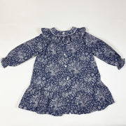 Pili Carrera blue star print long-sleeved collared dress with bloomers 4Y/101-107