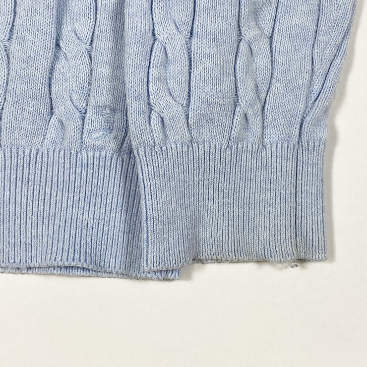 Jacadi light blue cable knit pullover 6Y