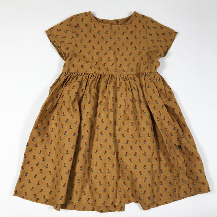 Oeuf tulip print dress 4Y