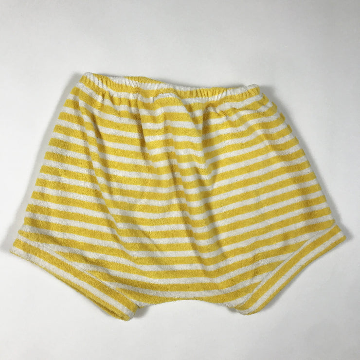 Seed white and yellow striped shorts 1Y/80-86