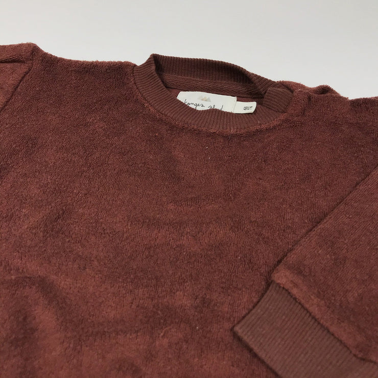 Konges Slojd maroon French terry sweatshirt 68-74