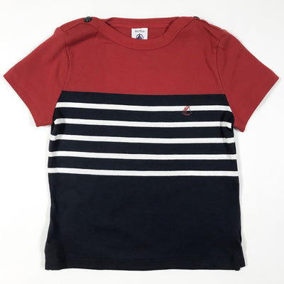 Petit Bateau red and blue striped t-shirt 36M/95
