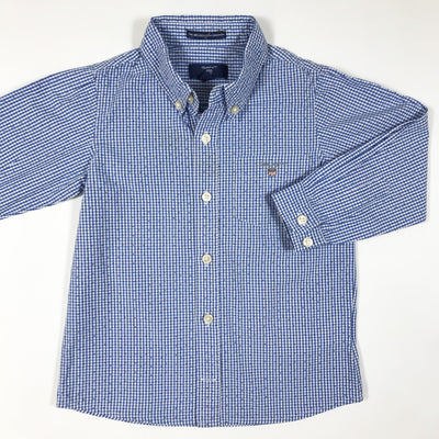 Gant blue long-sleeved gingham shirt 36M/98