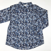 Marie Puce Paris long-sleeved blue berry pattern blouse 8Y