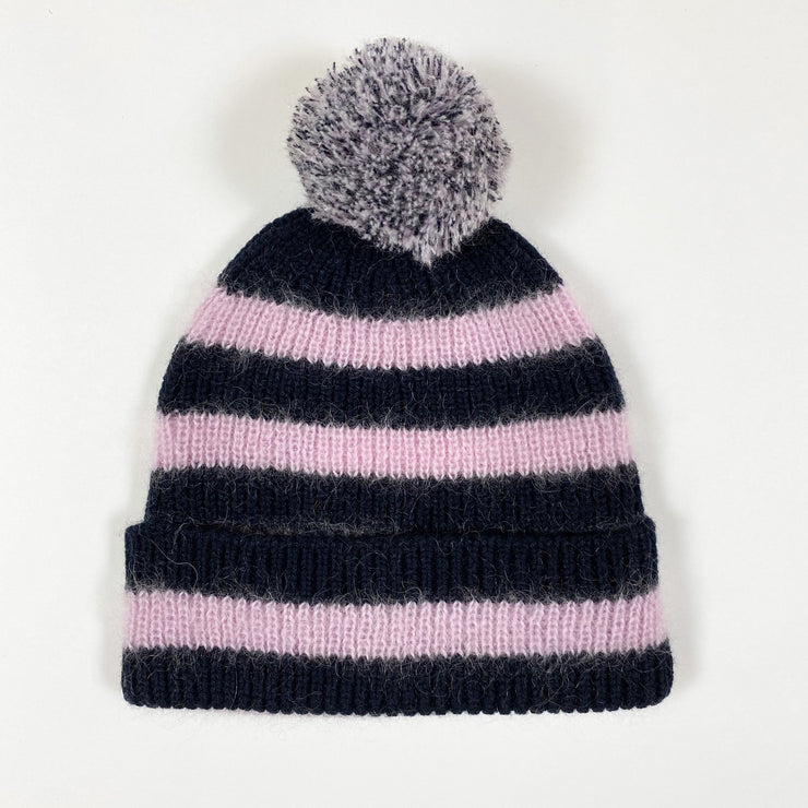 Simple Kids pink striped knit hat Second Season 52-54