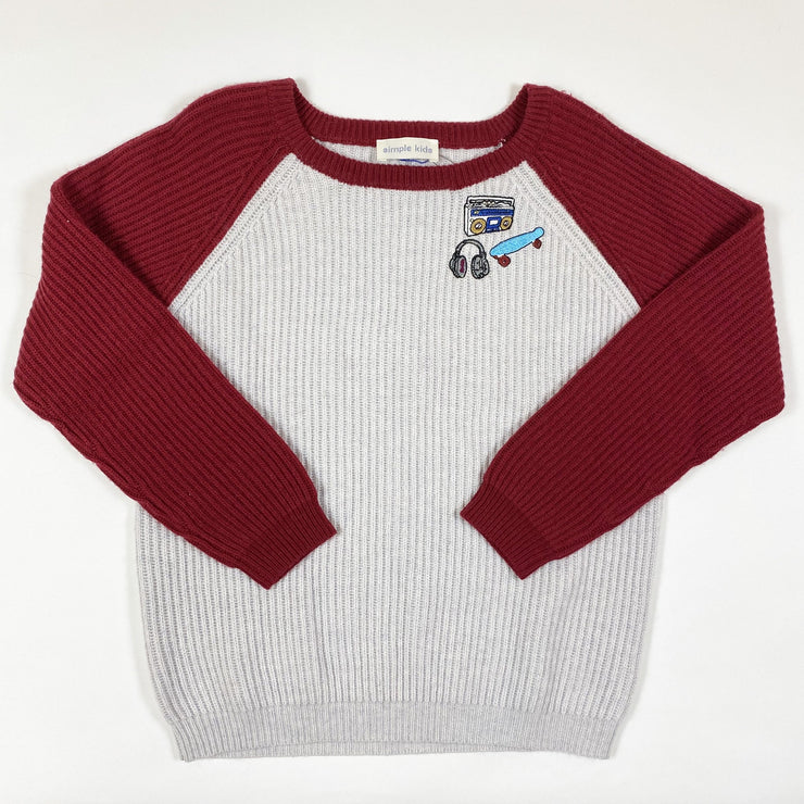 Simple Kids downy BMW knit jumper Second Season 8Y
