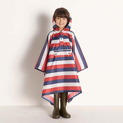 Danke Design striped rain cape with front pocket Second Season One size
