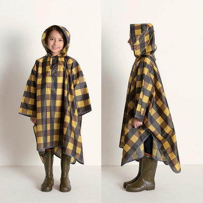 Danke Design tartan rain cape with front pocket Second Season One size