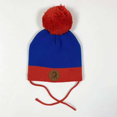 Mini Rodini blue/red Block knit hat Second Season diff. sizes