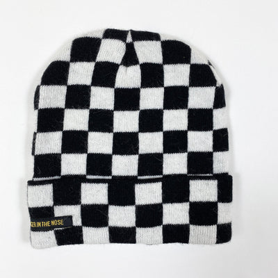 Finger in the Nose Nagano Black Checkers knit beanie Second Season 48-50