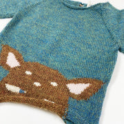 Oeuf NYC green Bambi knit pullover Second Season 6M