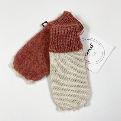 Oeuf NYC rose animal knit mittens Second Season 0/6M