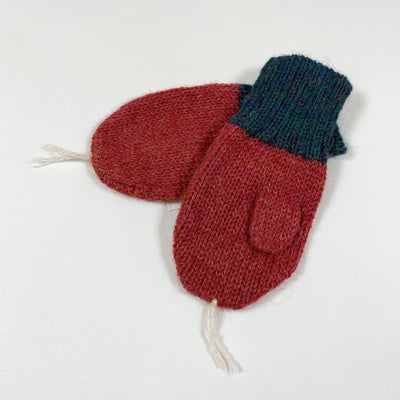 Oeuf NYC red green radish knit mittens Second Season 0/6M
