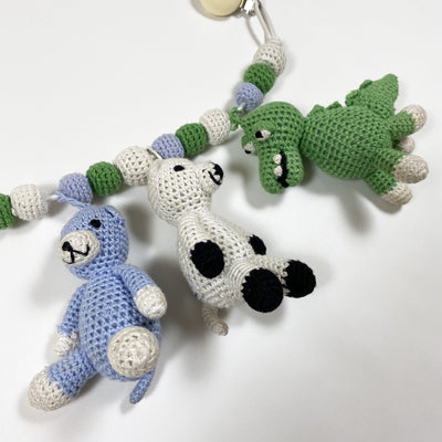 Nature Zoo of Denmark knitted pram toy with animals One size