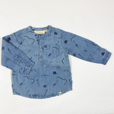 Soft Gallery blue print denim shirt Svend Second Season diff. sizes