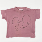 Bobo Choses purple elephant print T-shirt Second Season diff. sizes