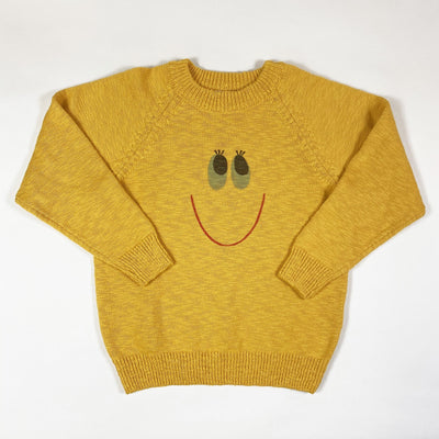 Jelly Mallow yellow Smile cotton knit sweater Second Season diff. sizes