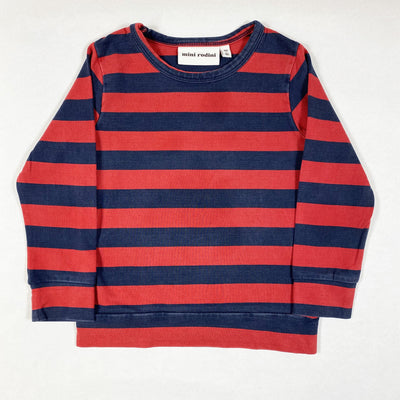 Mini Rodini red and blue striped long-sleeved t-shirt 80-86