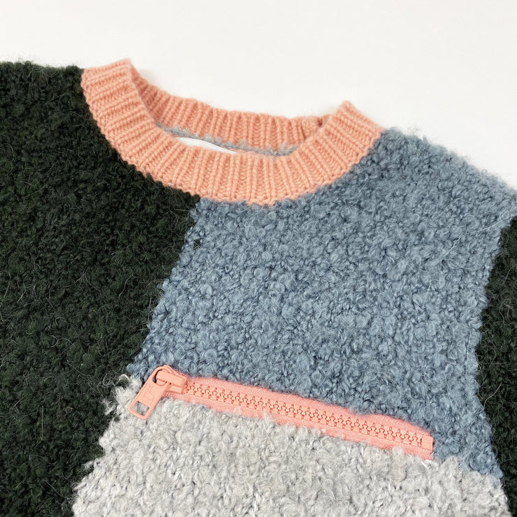 Stella McCartney Kids colour block Maya boucle knit jumper Second Season 6Y