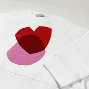 Stella McCartney Kids white heart print sweatshirt Second Season diff. sizes