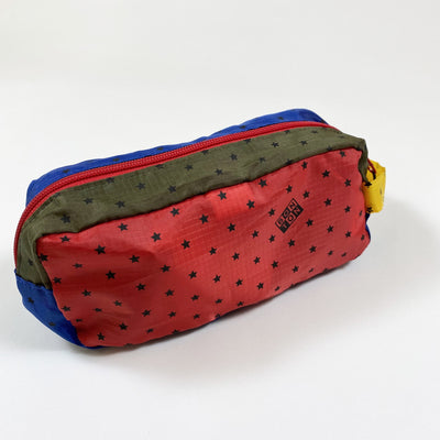 Bonton khaki/blue/red nylon patch pencil case Second Season