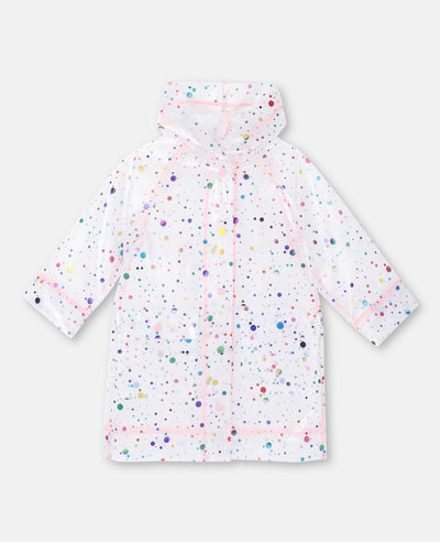 Stella McCartney Kids transparent multicoloured foil dots rain coat Second Season 14Y+